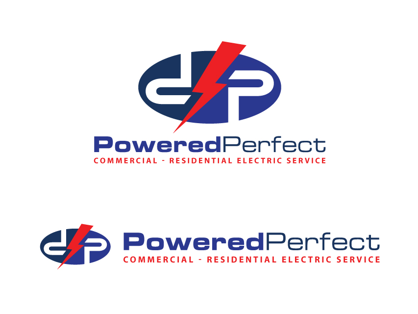 Logo Design by Richard Soriano - Entry No. 77 in the Logo Design Contest Captivating Logo Design for Powered Perfect.