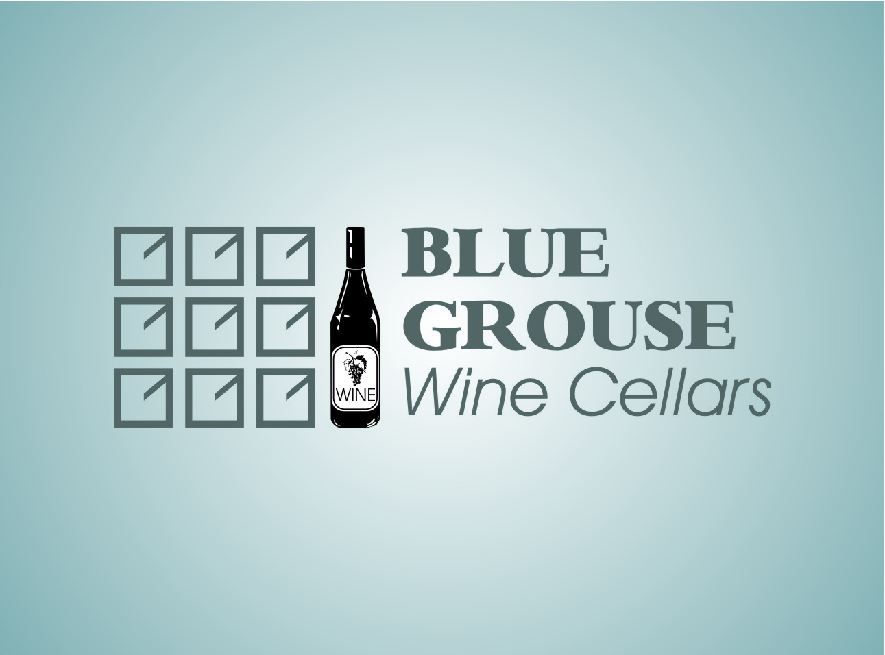 Logo Design by Ngepet_art - Entry No. 6 in the Logo Design Contest Creative Logo Design for Blue Grouse Wine Cellars.