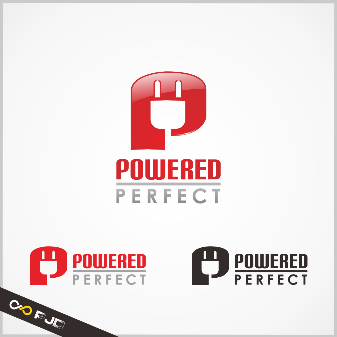 Logo Design by PJD - Entry No. 78 in the Logo Design Contest Captivating Logo Design for Powered Perfect.