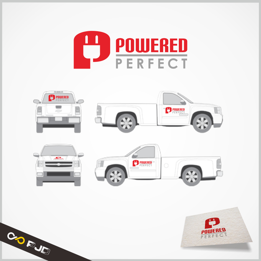 Logo Design by PJD - Entry No. 79 in the Logo Design Contest Captivating Logo Design for Powered Perfect.