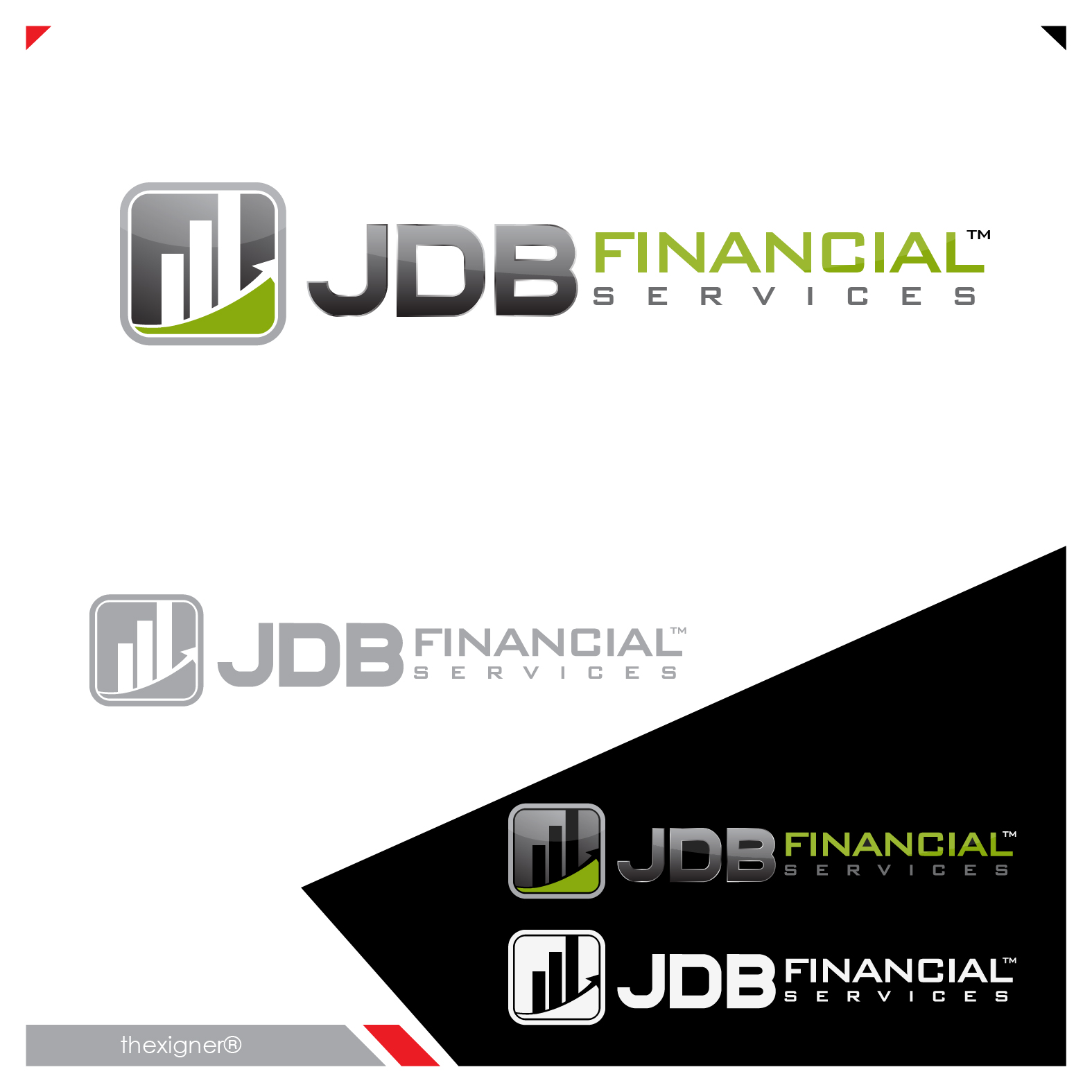 Logo Design by lagalag - Entry No. 34 in the Logo Design Contest Unique Logo Design Wanted for JDB Financial Services.