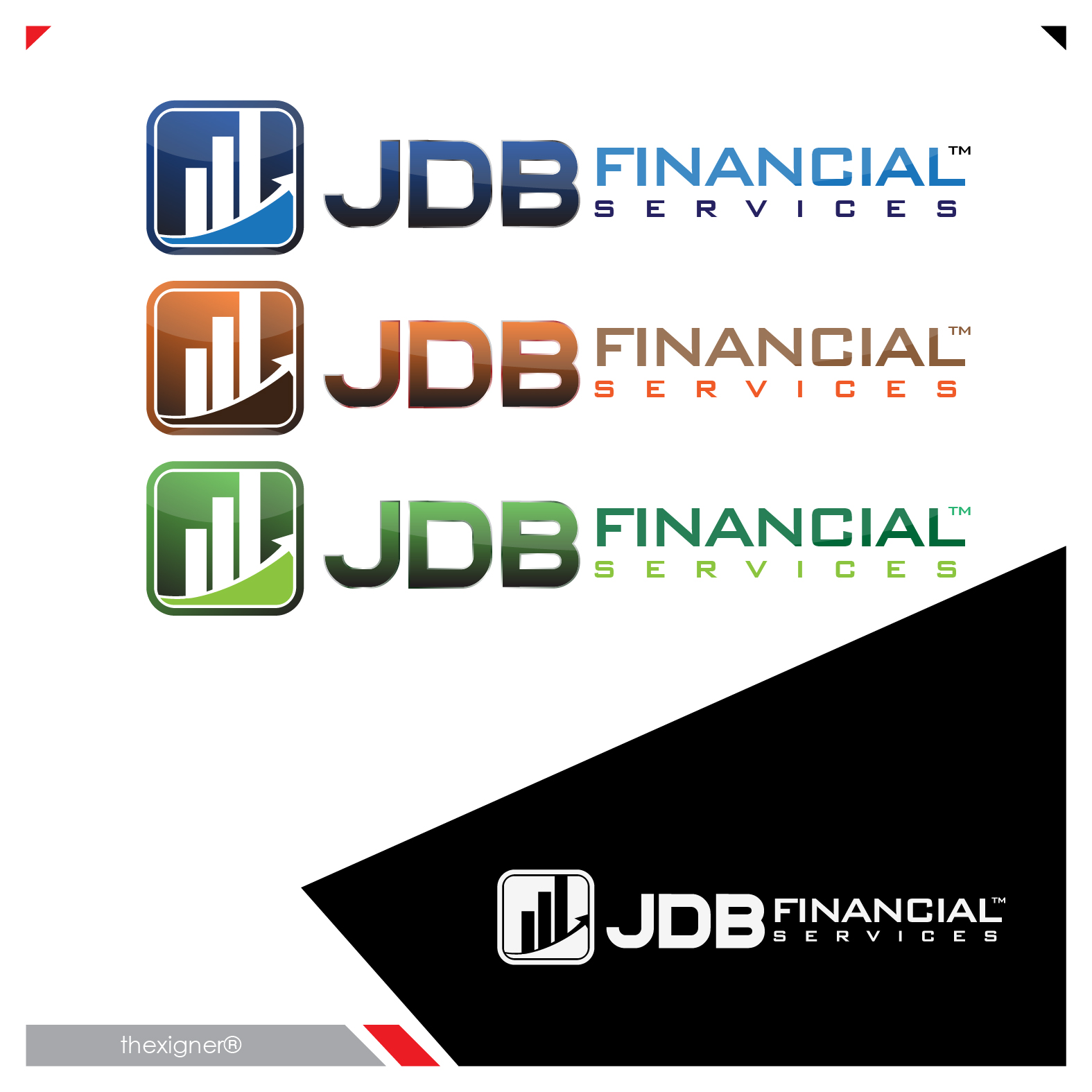 Logo Design by lagalag - Entry No. 35 in the Logo Design Contest Unique Logo Design Wanted for JDB Financial Services.