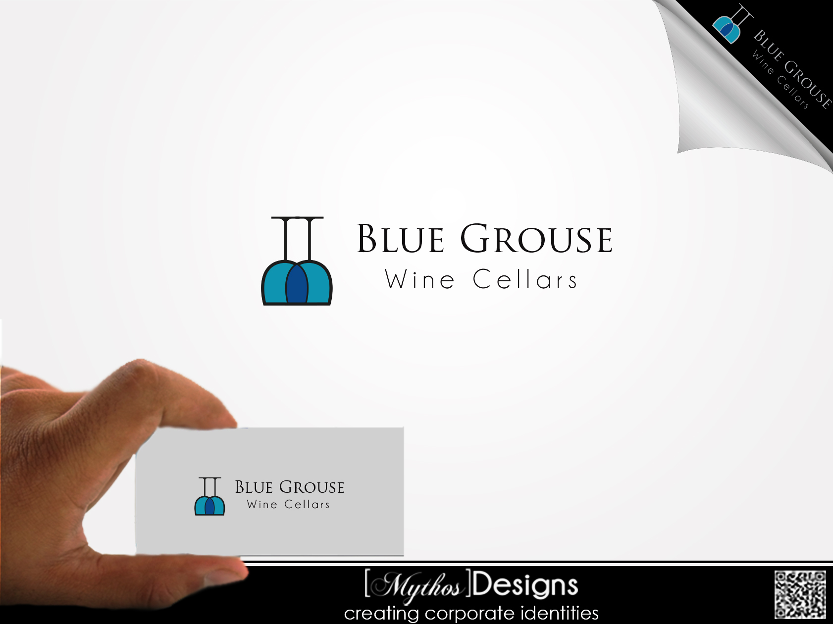 Logo Design by Mythos Designs - Entry No. 7 in the Logo Design Contest Creative Logo Design for Blue Grouse Wine Cellars.