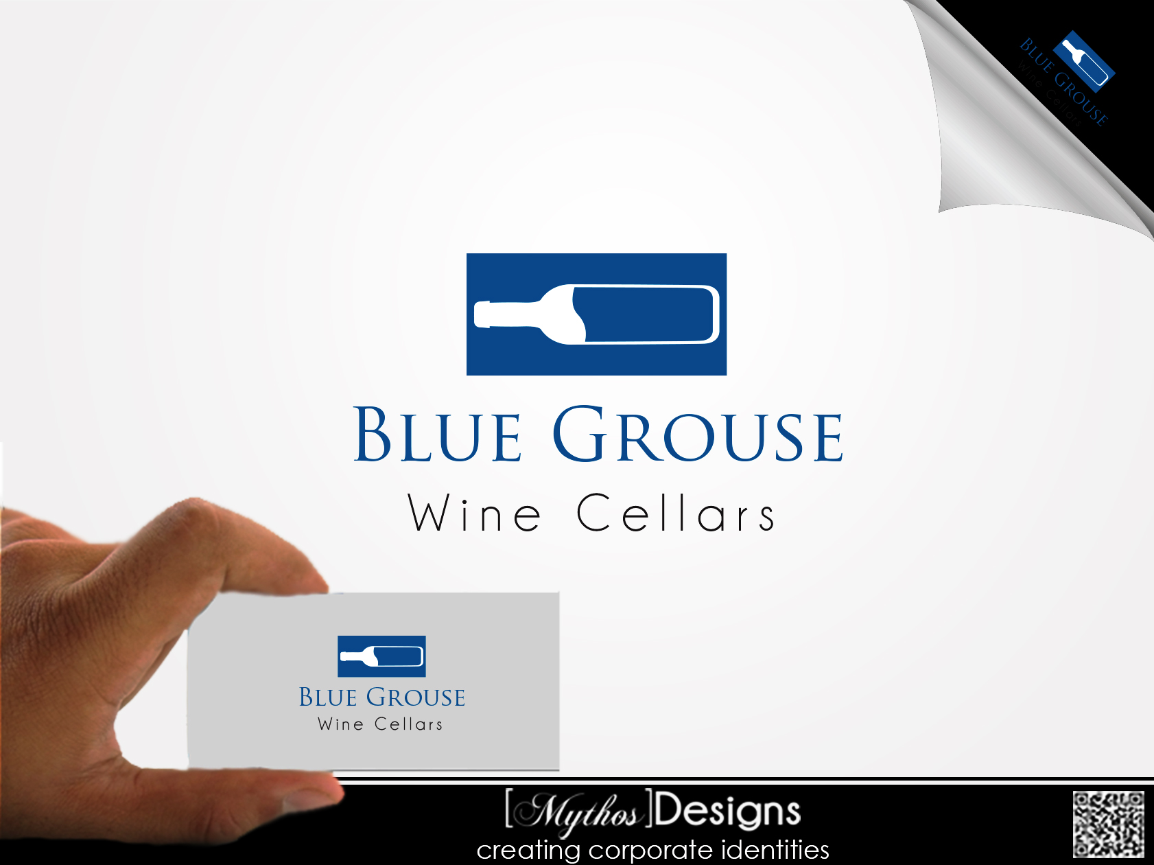 Logo Design by Mythos Designs - Entry No. 9 in the Logo Design Contest Creative Logo Design for Blue Grouse Wine Cellars.