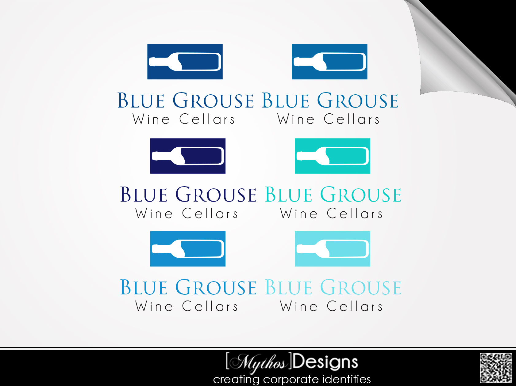 Logo Design by Mythos Designs - Entry No. 13 in the Logo Design Contest Creative Logo Design for Blue Grouse Wine Cellars.