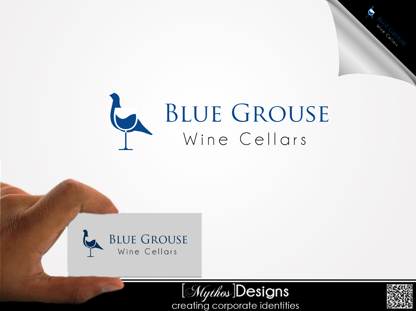 Logo Design by Mythos Designs - Entry No. 14 in the Logo Design Contest Creative Logo Design for Blue Grouse Wine Cellars.