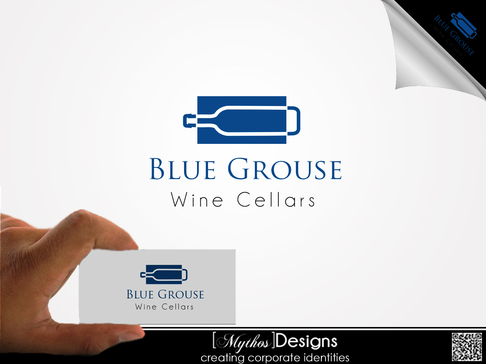 Logo Design by Mythos Designs - Entry No. 16 in the Logo Design Contest Creative Logo Design for Blue Grouse Wine Cellars.