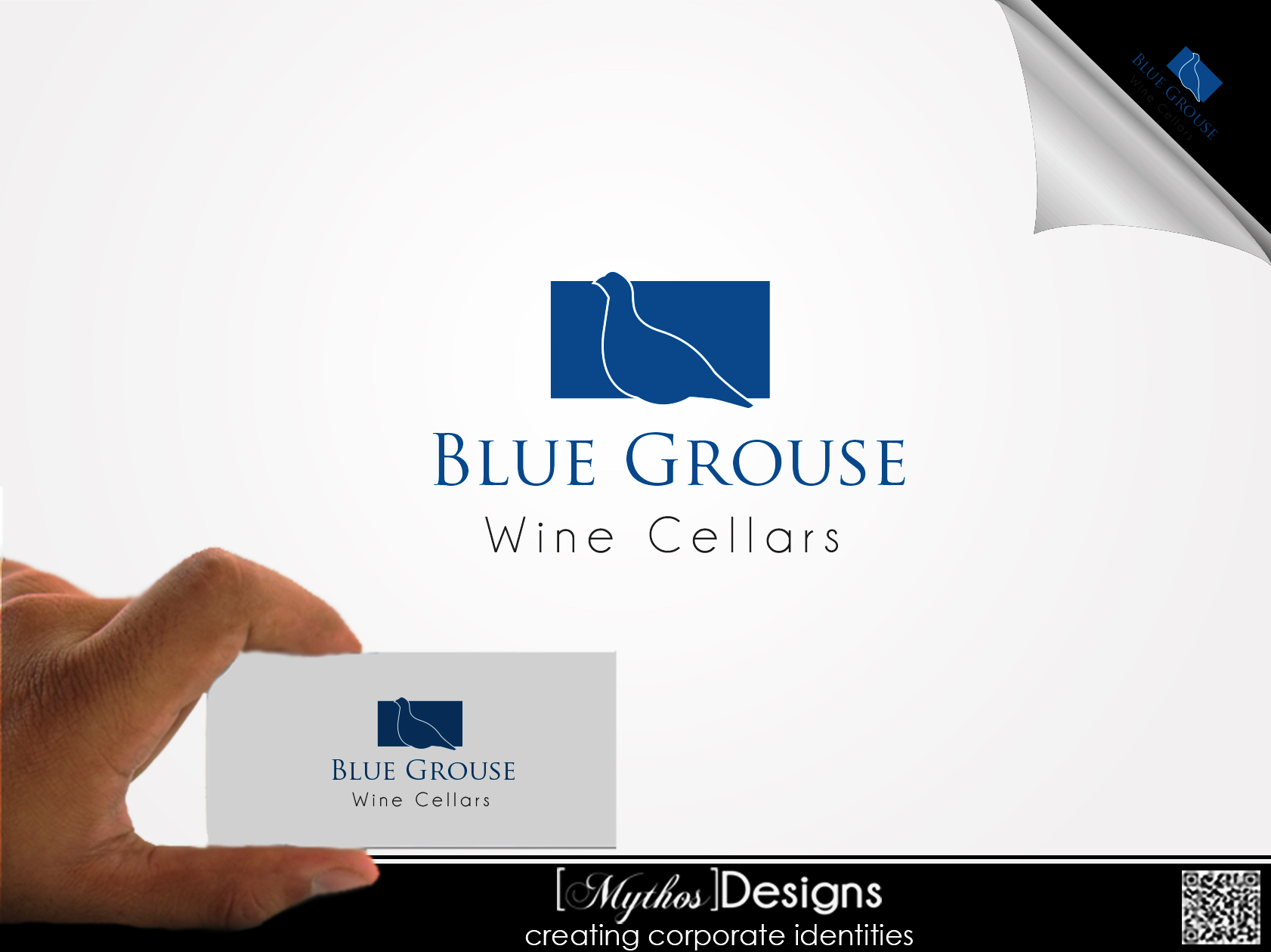 Logo Design by Mythos Designs - Entry No. 17 in the Logo Design Contest Creative Logo Design for Blue Grouse Wine Cellars.