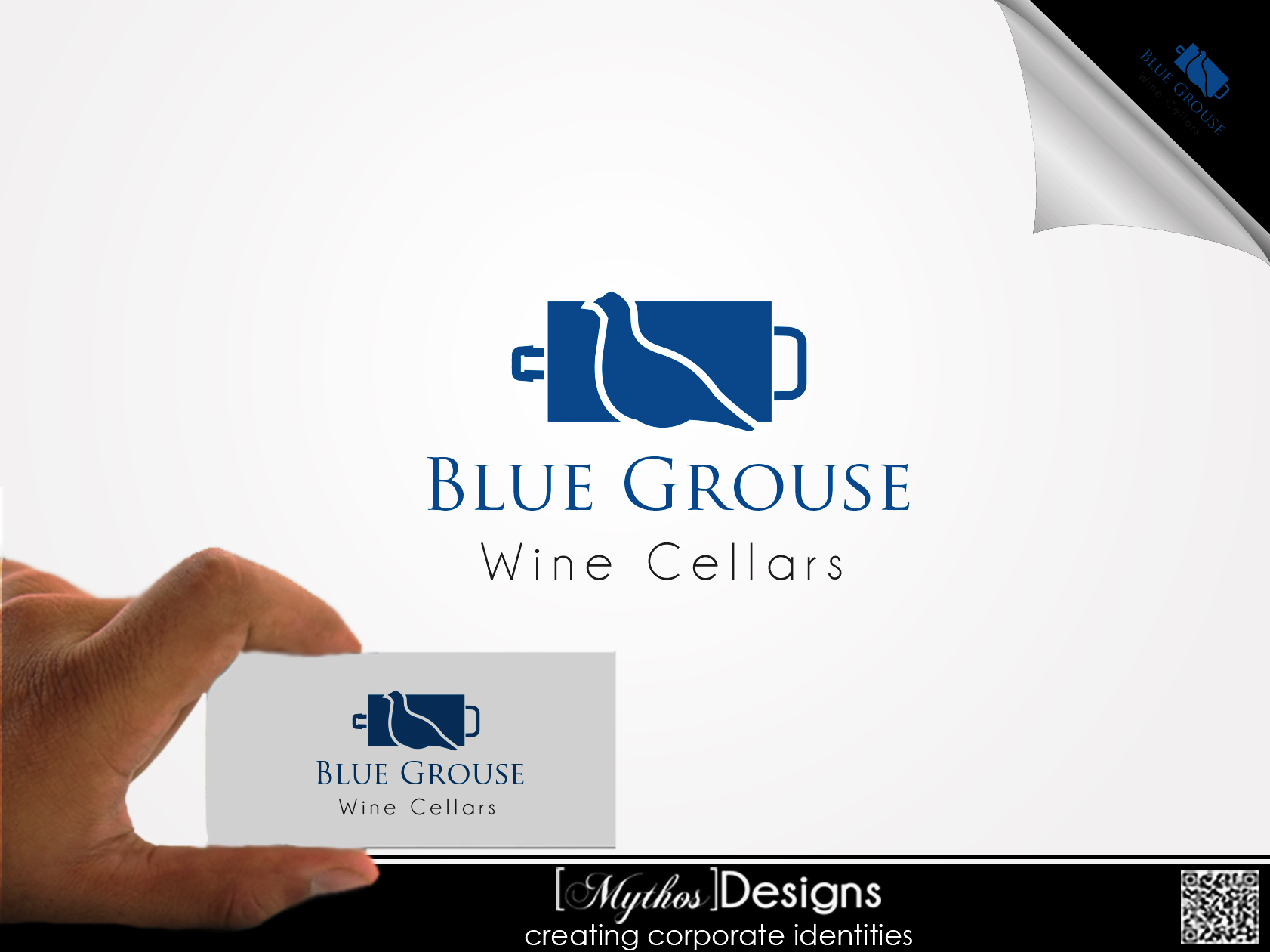 Logo Design by Mythos Designs - Entry No. 18 in the Logo Design Contest Creative Logo Design for Blue Grouse Wine Cellars.