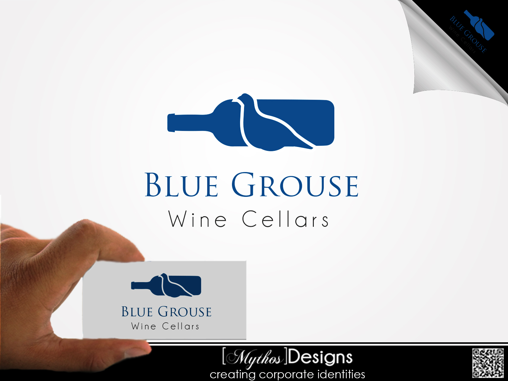 Logo Design by Mythos Designs - Entry No. 19 in the Logo Design Contest Creative Logo Design for Blue Grouse Wine Cellars.
