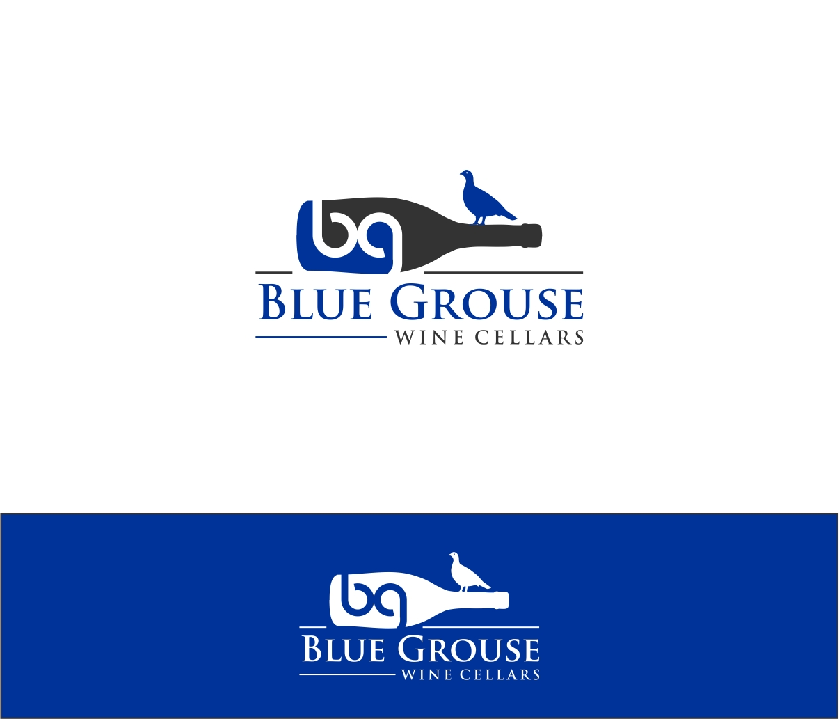 Logo Design by haidu - Entry No. 20 in the Logo Design Contest Creative Logo Design for Blue Grouse Wine Cellars.