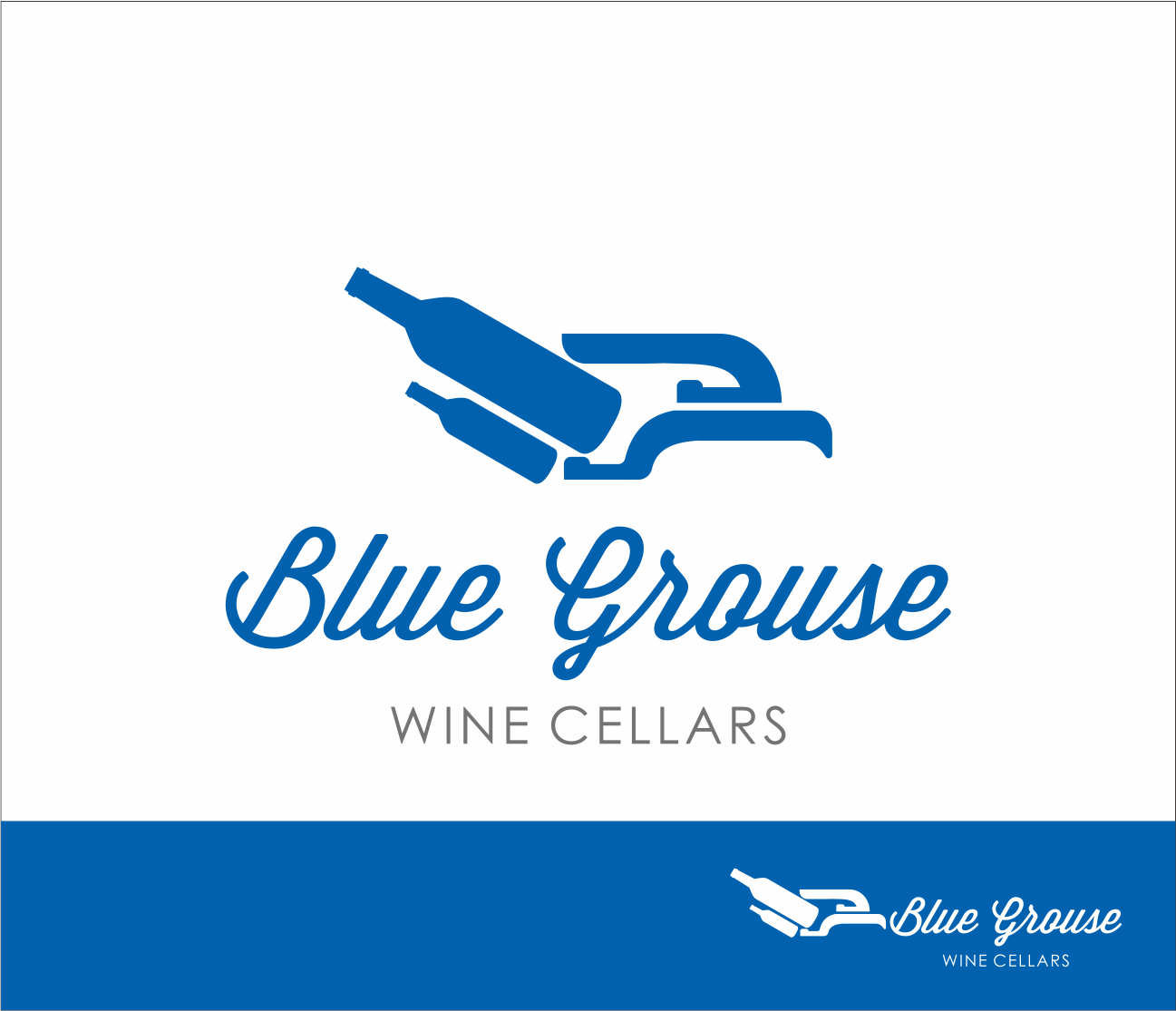 Logo Design by Armada Jamaluddin - Entry No. 21 in the Logo Design Contest Creative Logo Design for Blue Grouse Wine Cellars.