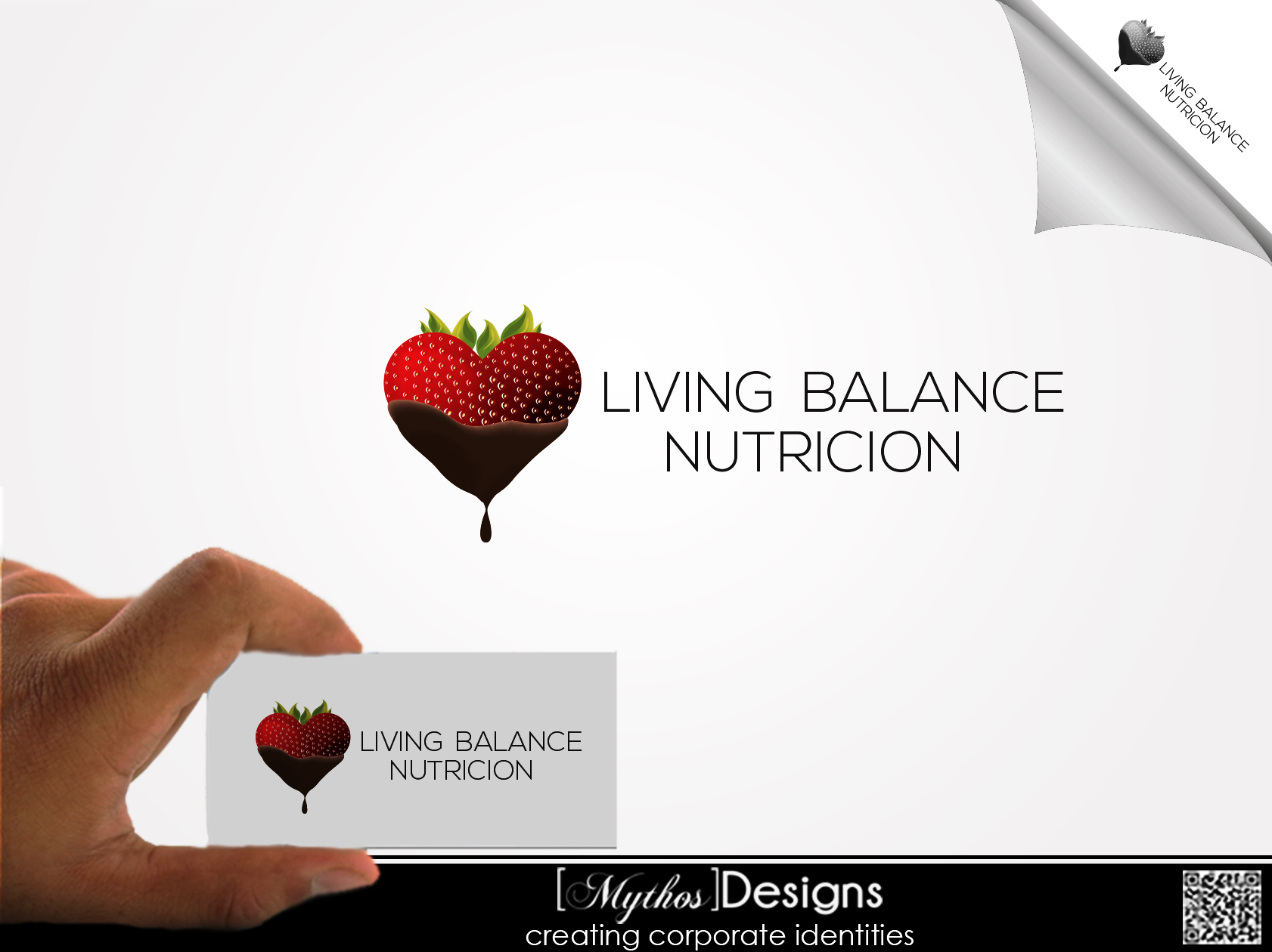Logo Design by Mythos Designs - Entry No. 30 in the Logo Design Contest Unique Logo Design Wanted for Living Balance Nutrition.