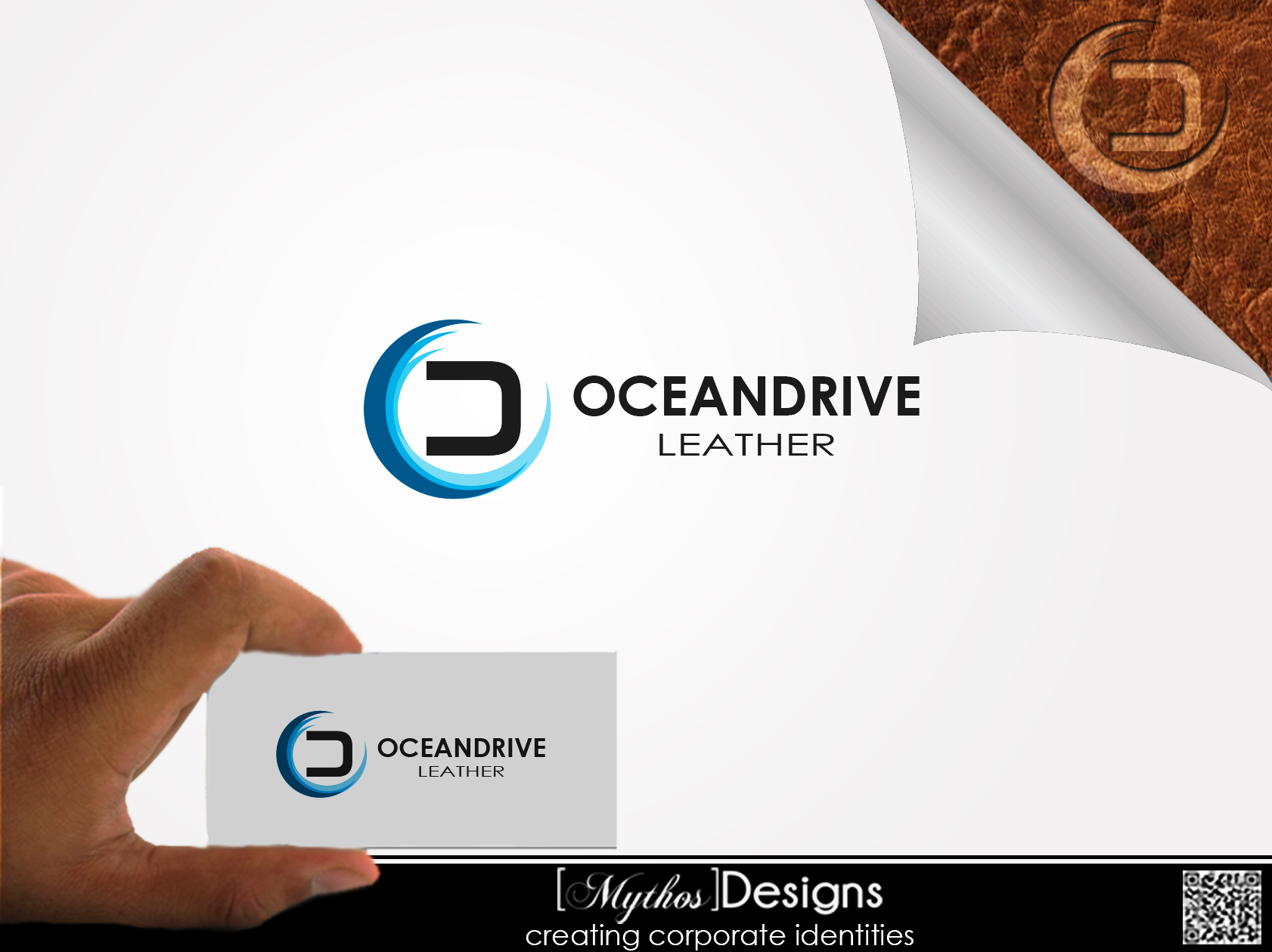 Logo Design by Mythos Designs - Entry No. 8 in the Logo Design Contest Captivating Logo Design for Oceandrive Leather.