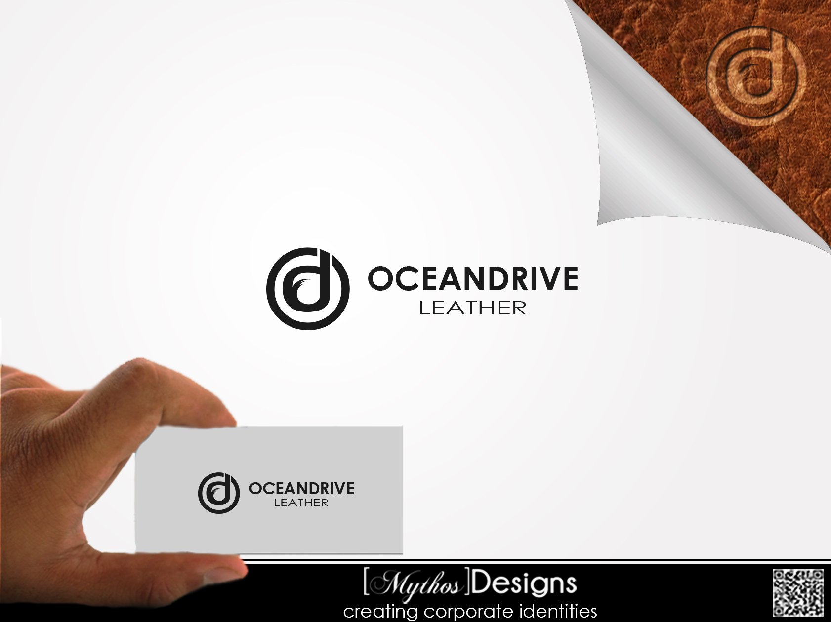 Logo Design by Mythos Designs - Entry No. 10 in the Logo Design Contest Captivating Logo Design for Oceandrive Leather.