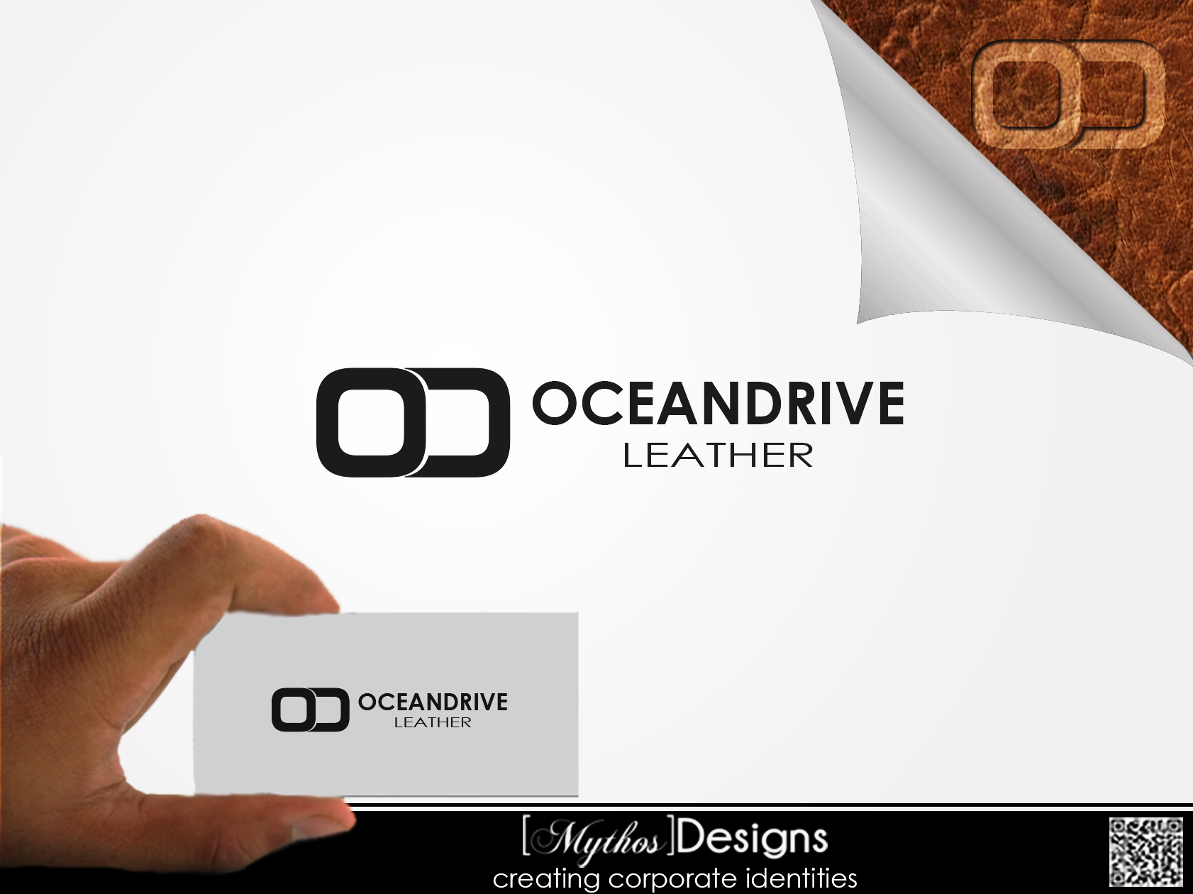Logo Design by Mythos Designs - Entry No. 11 in the Logo Design Contest Captivating Logo Design for Oceandrive Leather.