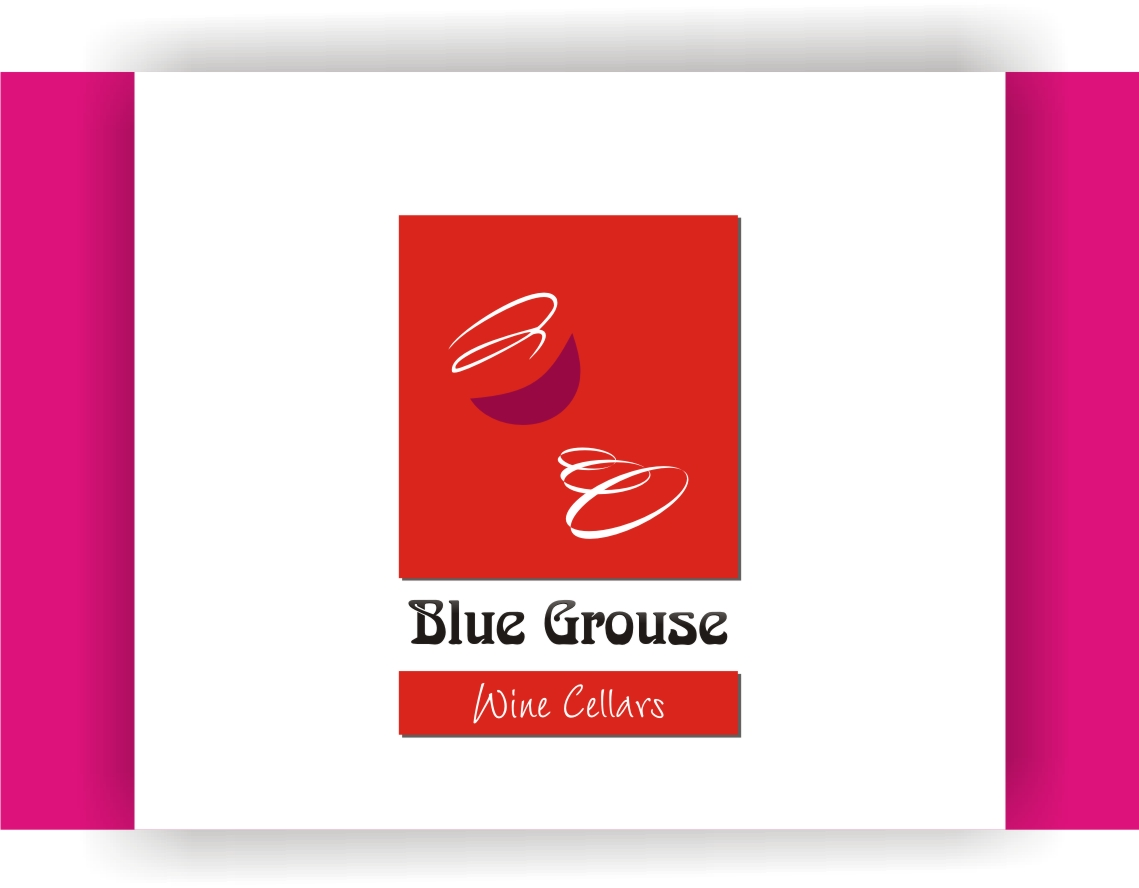 Logo Design by Shailender Kumar - Entry No. 27 in the Logo Design Contest Creative Logo Design for Blue Grouse Wine Cellars.