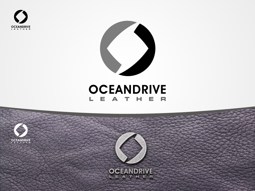 Logo Design by Richard Soriano - Entry No. 12 in the Logo Design Contest Captivating Logo Design for Oceandrive Leather.