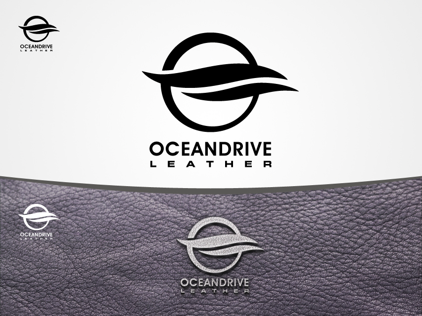 Logo Design by Richard Soriano - Entry No. 13 in the Logo Design Contest Captivating Logo Design for Oceandrive Leather.