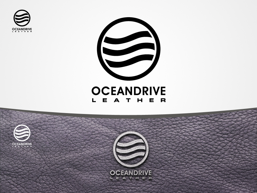 Logo Design by Richard Soriano - Entry No. 14 in the Logo Design Contest Captivating Logo Design for Oceandrive Leather.
