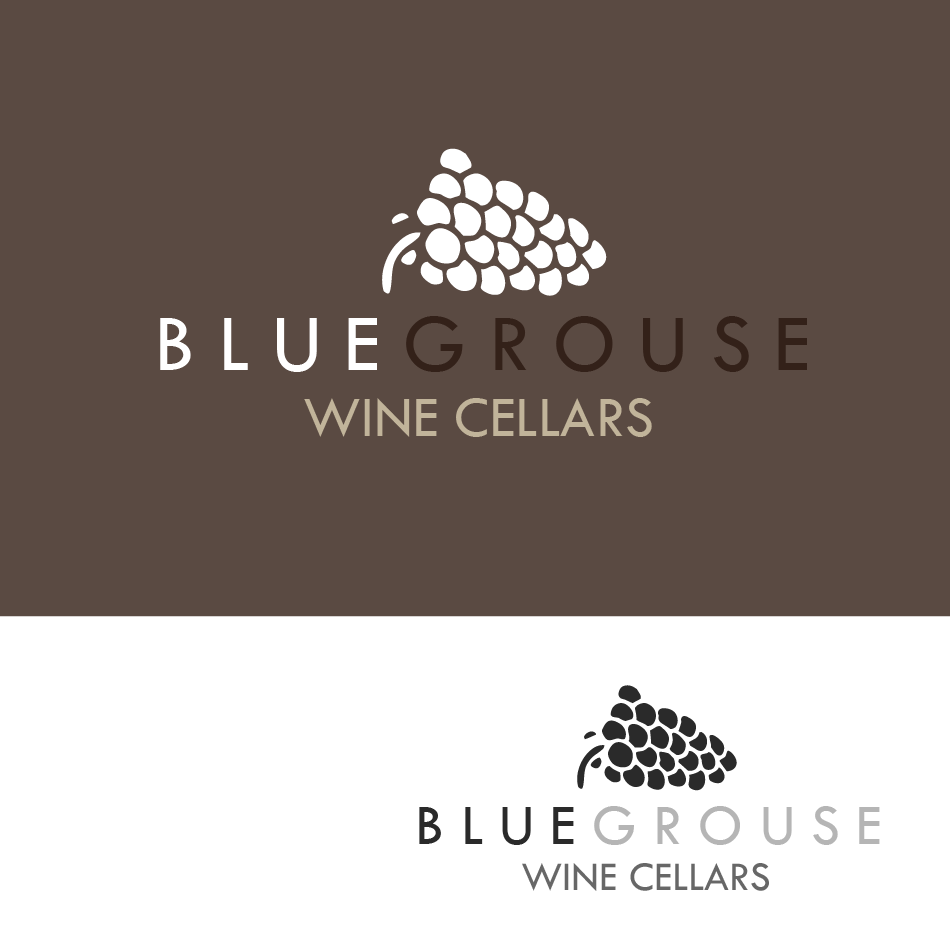 Logo Design by moonflower - Entry No. 33 in the Logo Design Contest Creative Logo Design for Blue Grouse Wine Cellars.