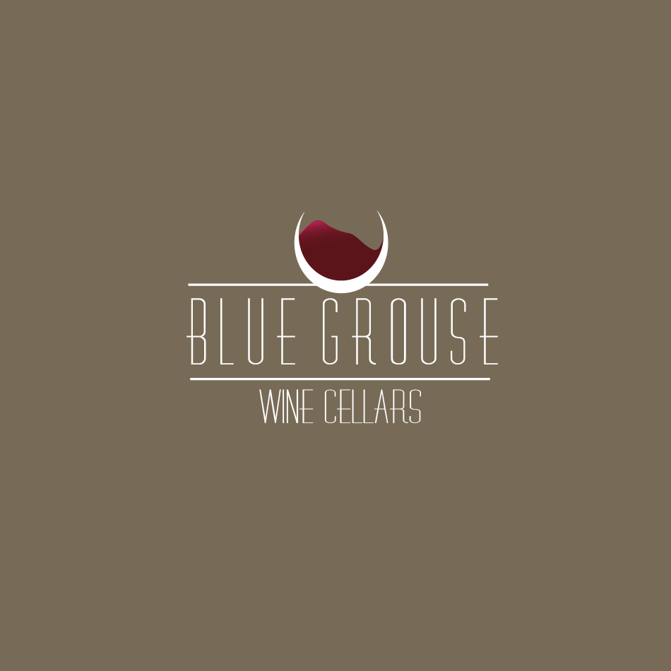 Logo Design by moonflower - Entry No. 34 in the Logo Design Contest Creative Logo Design for Blue Grouse Wine Cellars.
