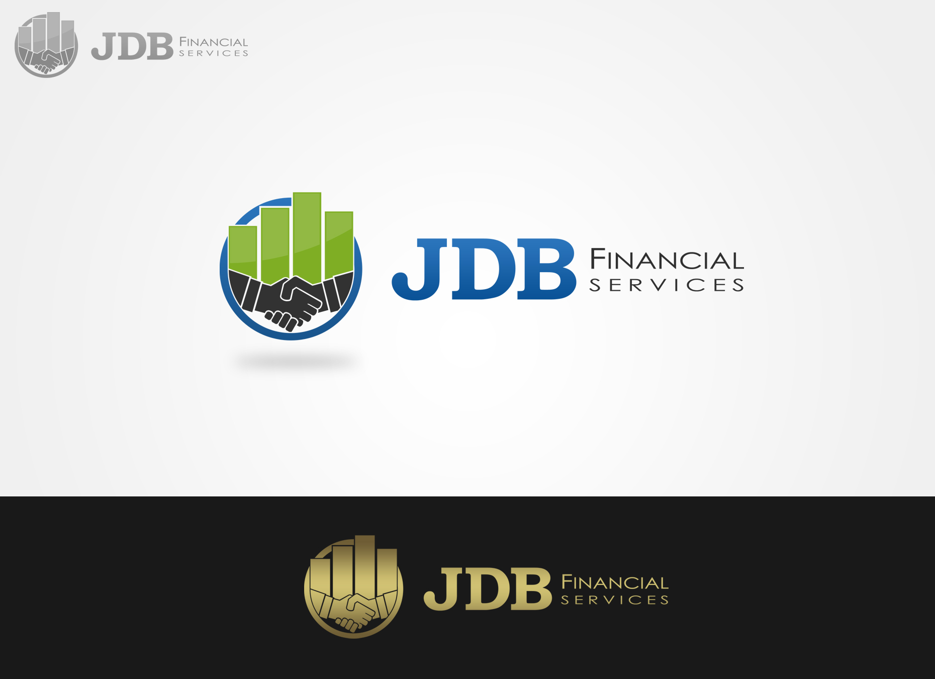 Logo Design by omARTist - Entry No. 66 in the Logo Design Contest Unique Logo Design Wanted for JDB Financial Services.
