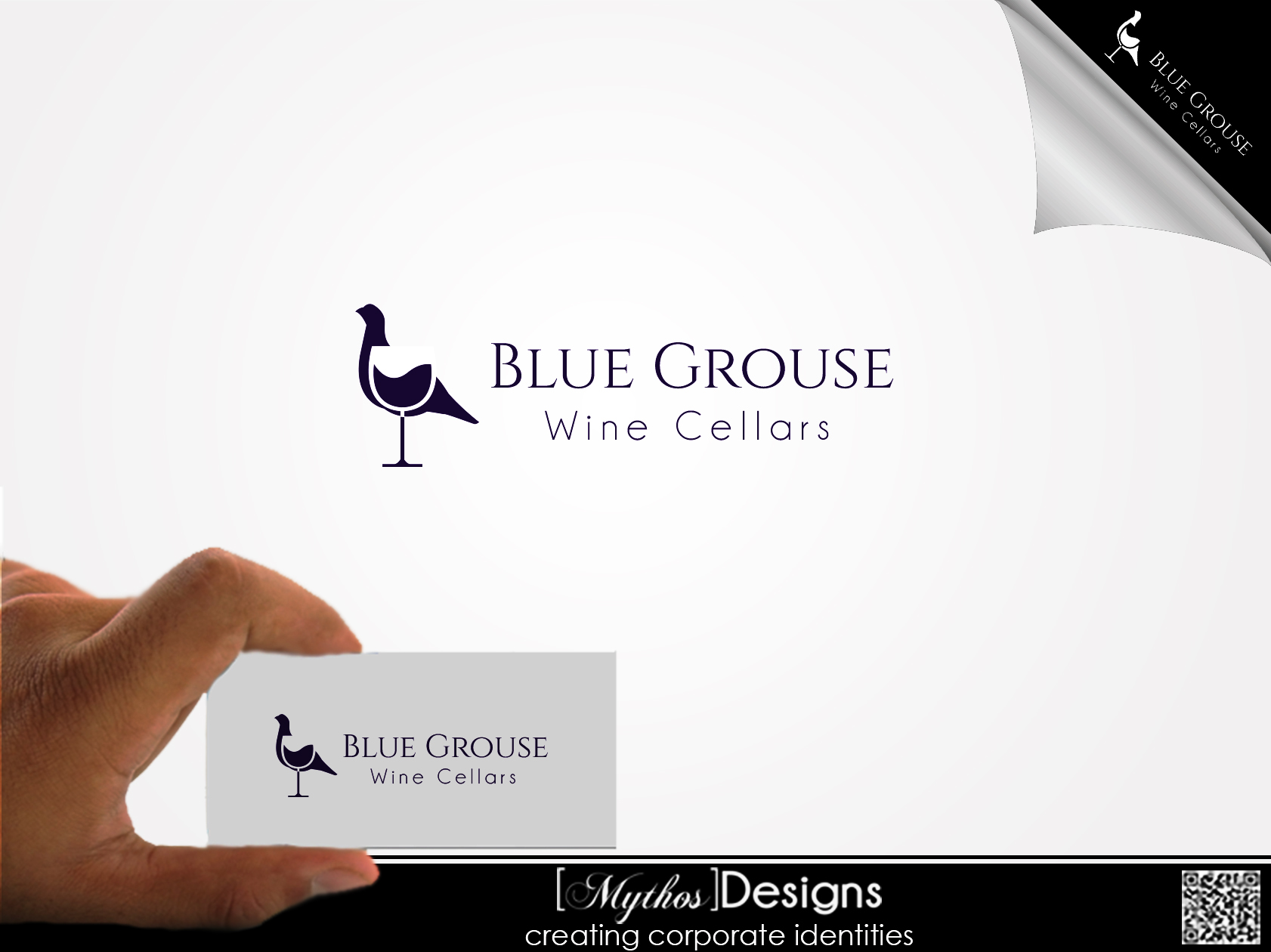 Logo Design by Mythos Designs - Entry No. 37 in the Logo Design Contest Creative Logo Design for Blue Grouse Wine Cellars.