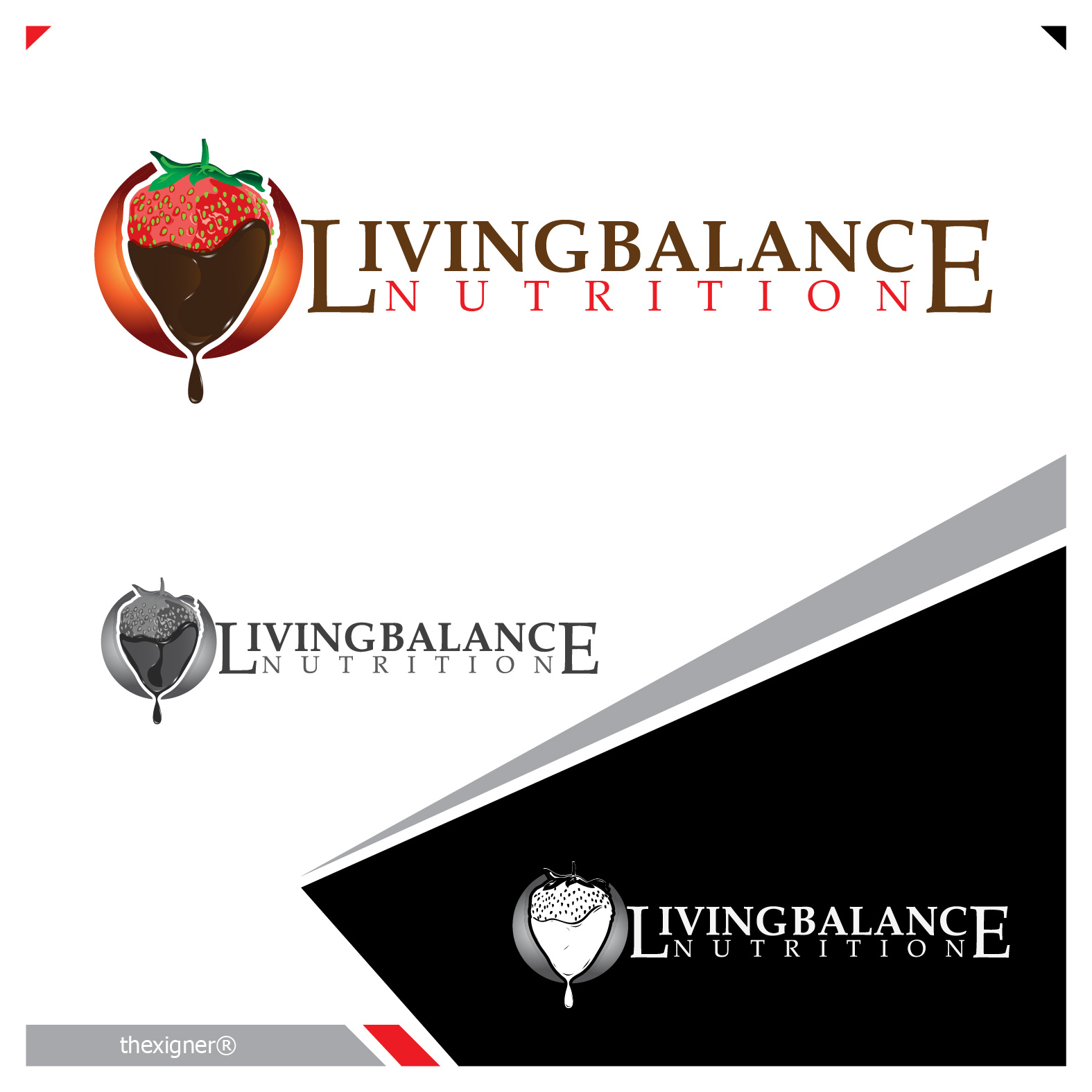 Logo Design by lagalag - Entry No. 45 in the Logo Design Contest Unique Logo Design Wanted for Living Balance Nutrition.