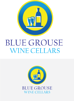 Logo Design by Private User - Entry No. 48 in the Logo Design Contest Creative Logo Design for Blue Grouse Wine Cellars.