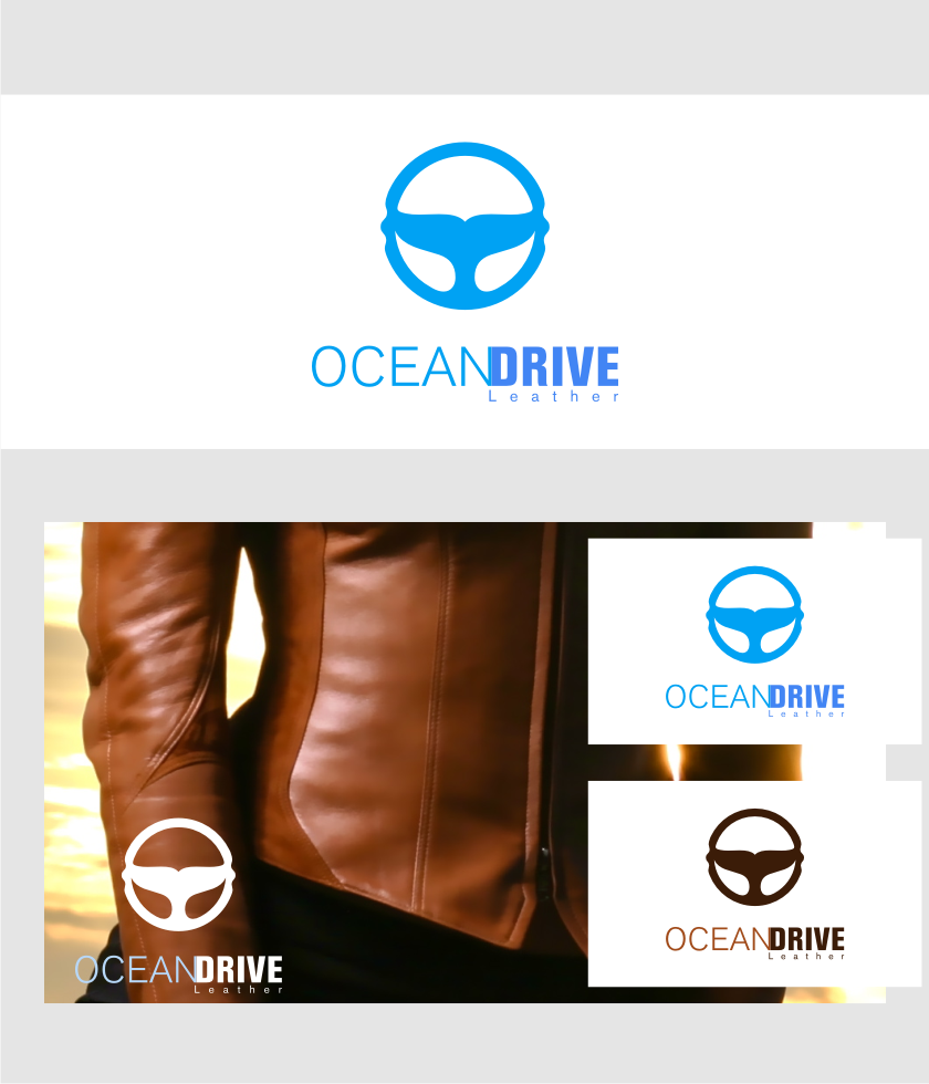 Logo Design by graphicleaf - Entry No. 21 in the Logo Design Contest Captivating Logo Design for Oceandrive Leather.