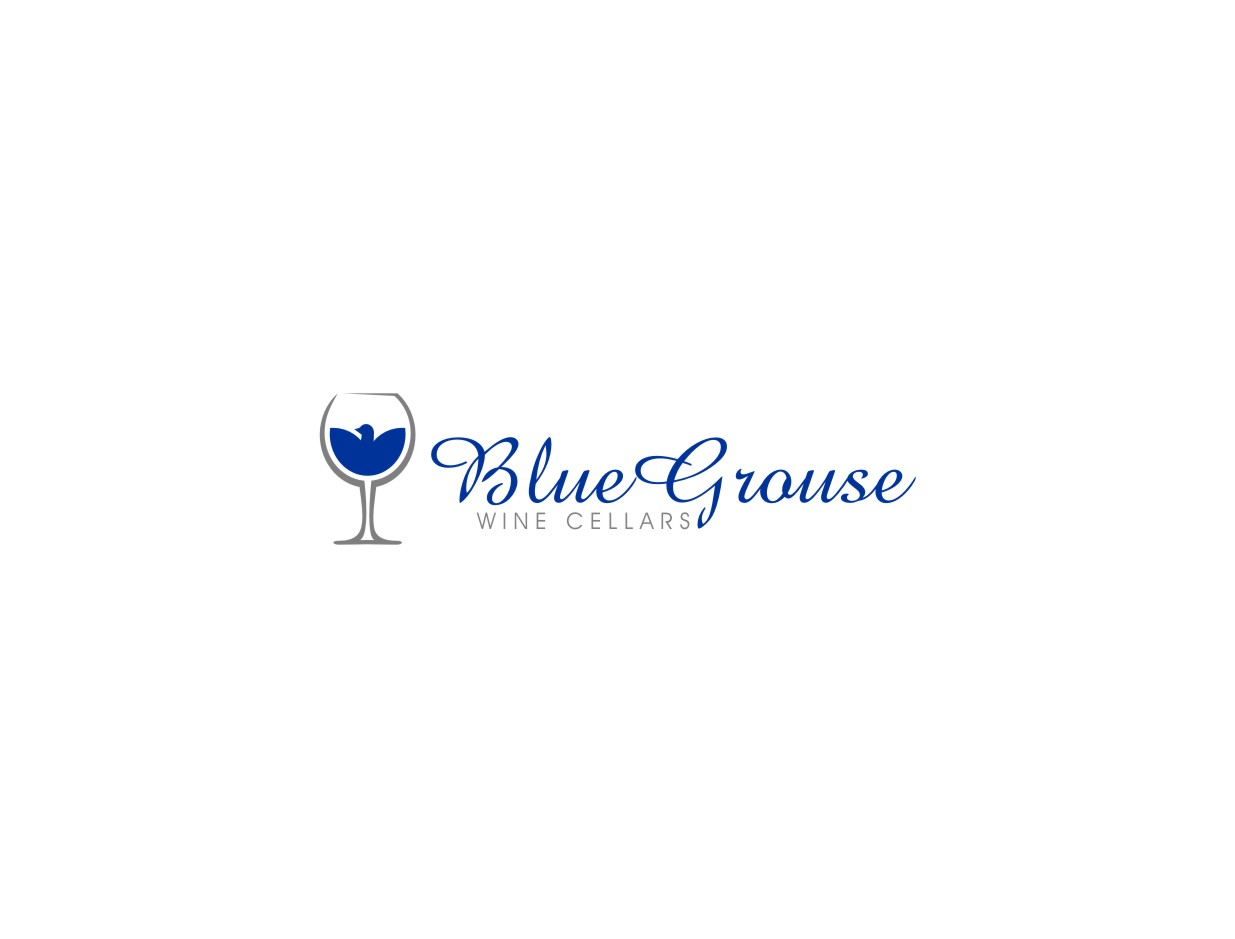 Logo Design by untung - Entry No. 51 in the Logo Design Contest Creative Logo Design for Blue Grouse Wine Cellars.