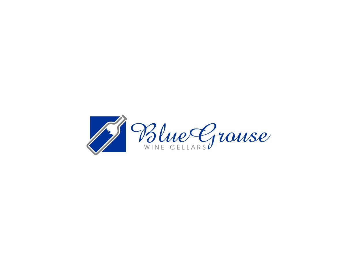 Logo Design by untung - Entry No. 52 in the Logo Design Contest Creative Logo Design for Blue Grouse Wine Cellars.