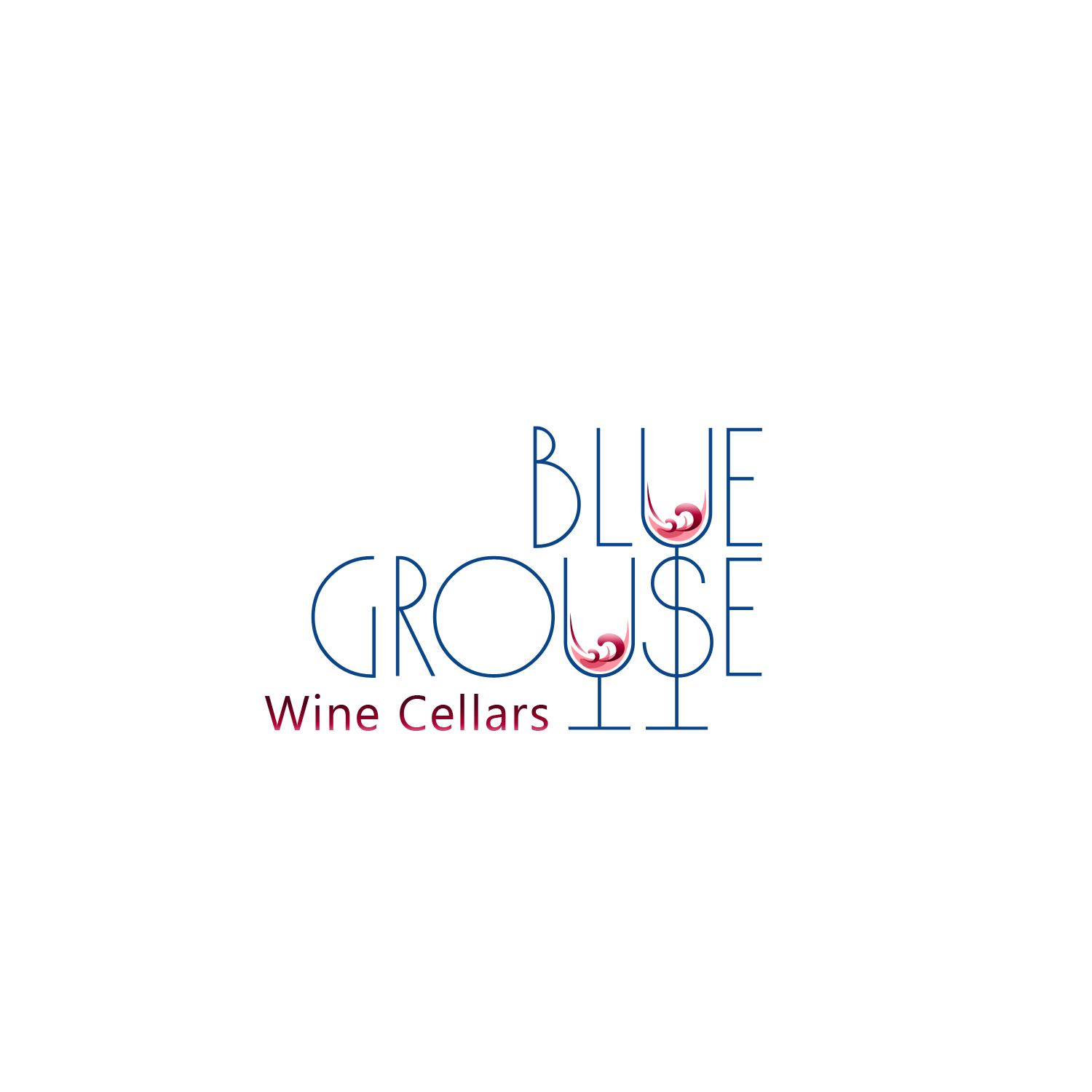 Logo Design by Private User - Entry No. 55 in the Logo Design Contest Creative Logo Design for Blue Grouse Wine Cellars.