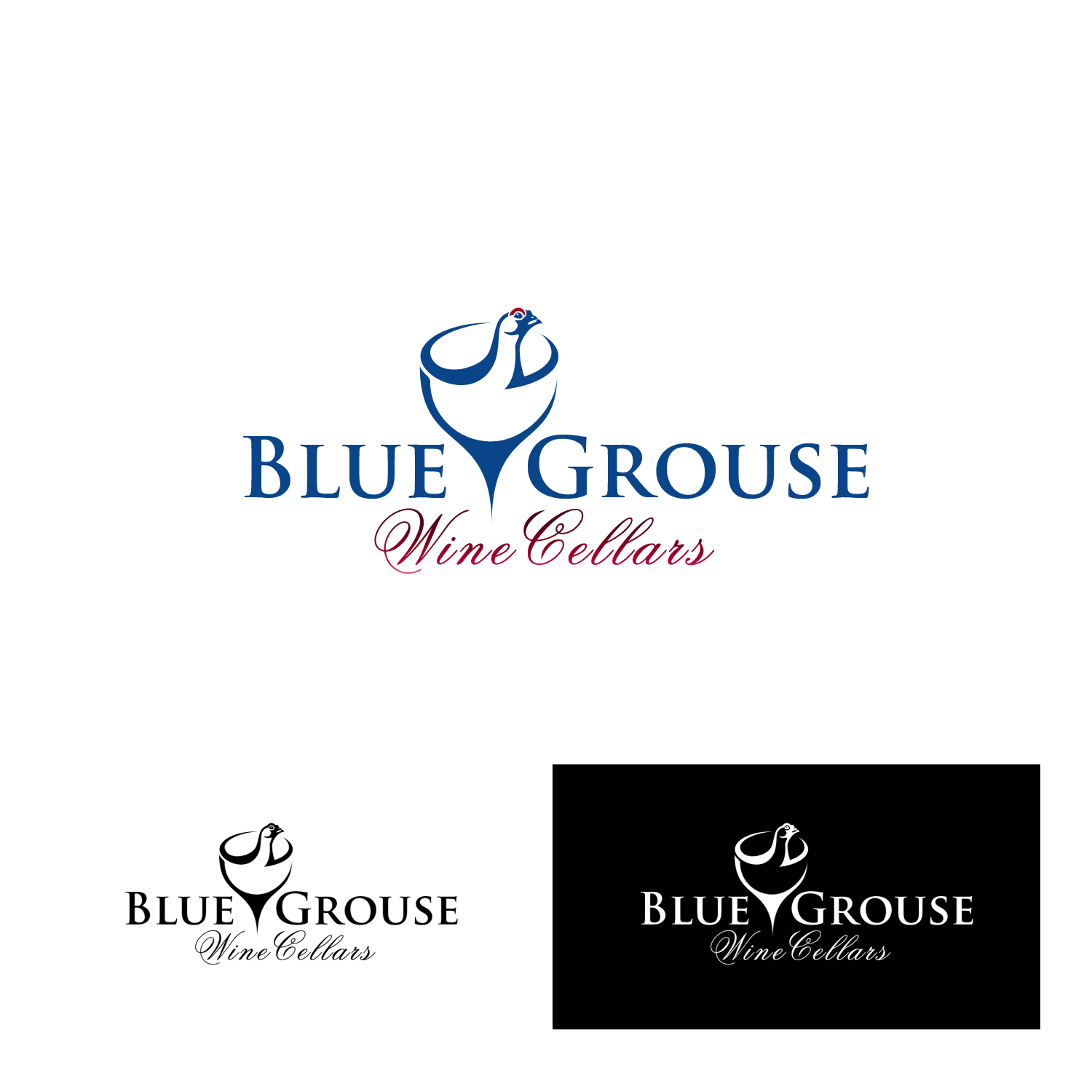 Logo Design by Private User - Entry No. 57 in the Logo Design Contest Creative Logo Design for Blue Grouse Wine Cellars.