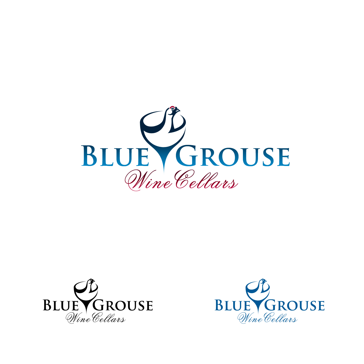Logo Design by Private User - Entry No. 58 in the Logo Design Contest Creative Logo Design for Blue Grouse Wine Cellars.