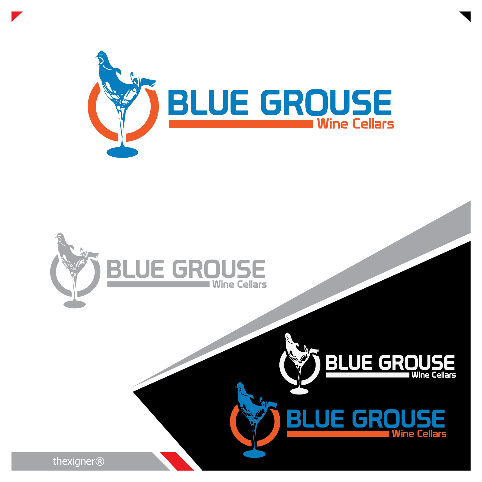 Logo Design by lagalag - Entry No. 65 in the Logo Design Contest Creative Logo Design for Blue Grouse Wine Cellars.