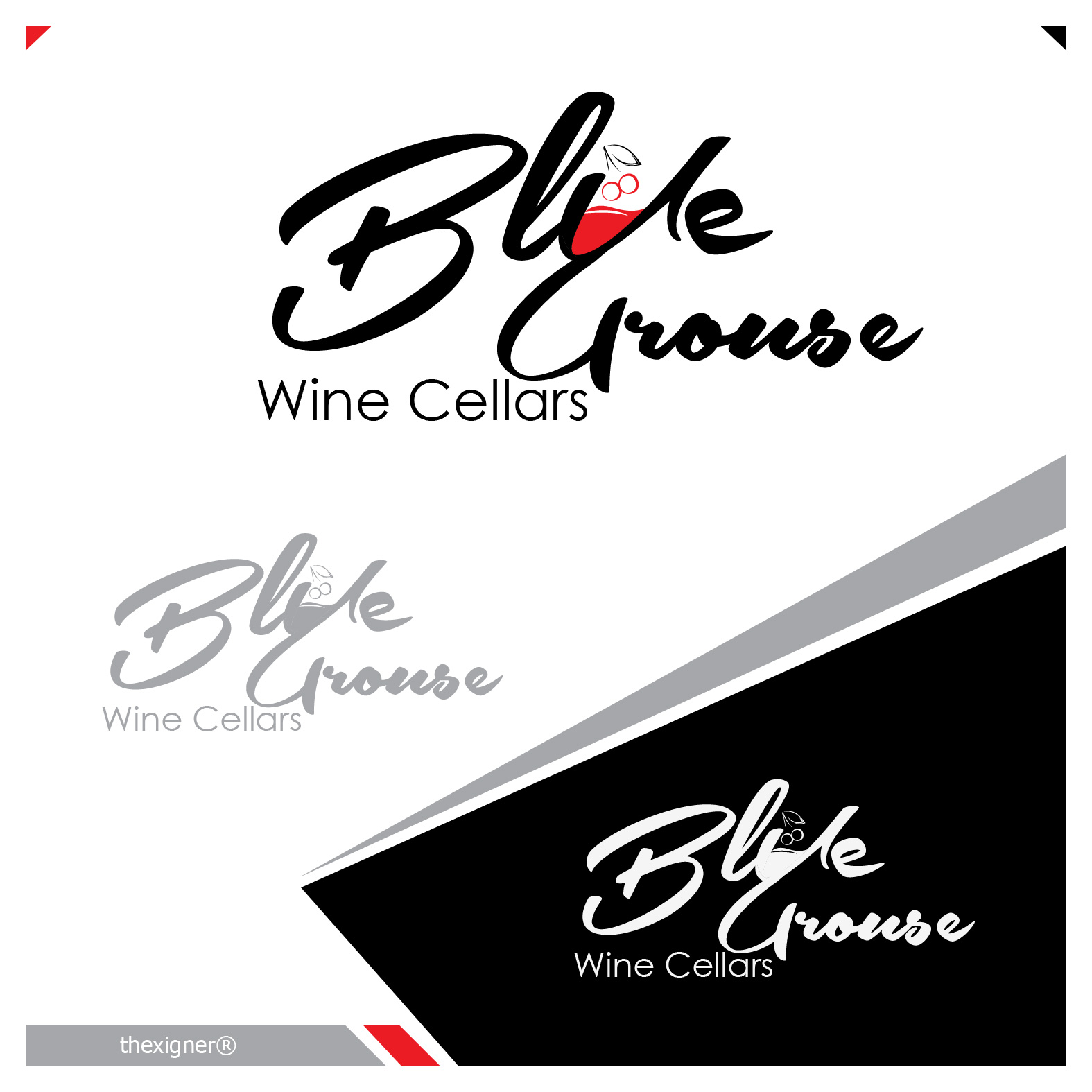 Logo Design by lagalag - Entry No. 66 in the Logo Design Contest Creative Logo Design for Blue Grouse Wine Cellars.