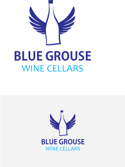 Logo Design by Private User - Entry No. 70 in the Logo Design Contest Creative Logo Design for Blue Grouse Wine Cellars.
