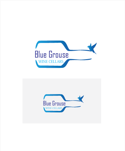 Logo Design by Private User - Entry No. 71 in the Logo Design Contest Creative Logo Design for Blue Grouse Wine Cellars.