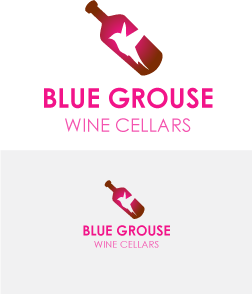 Logo Design by Private User - Entry No. 72 in the Logo Design Contest Creative Logo Design for Blue Grouse Wine Cellars.