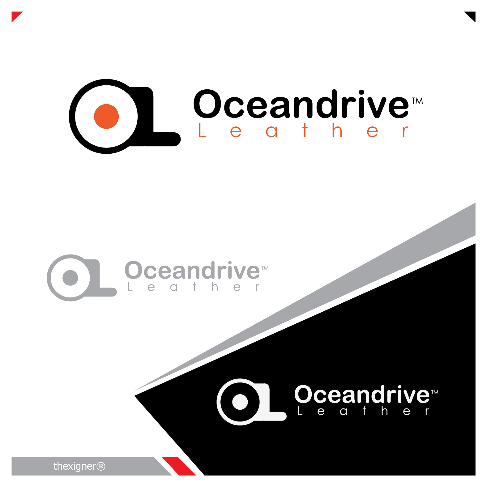 Logo Design by lagalag - Entry No. 26 in the Logo Design Contest Captivating Logo Design for Oceandrive Leather.