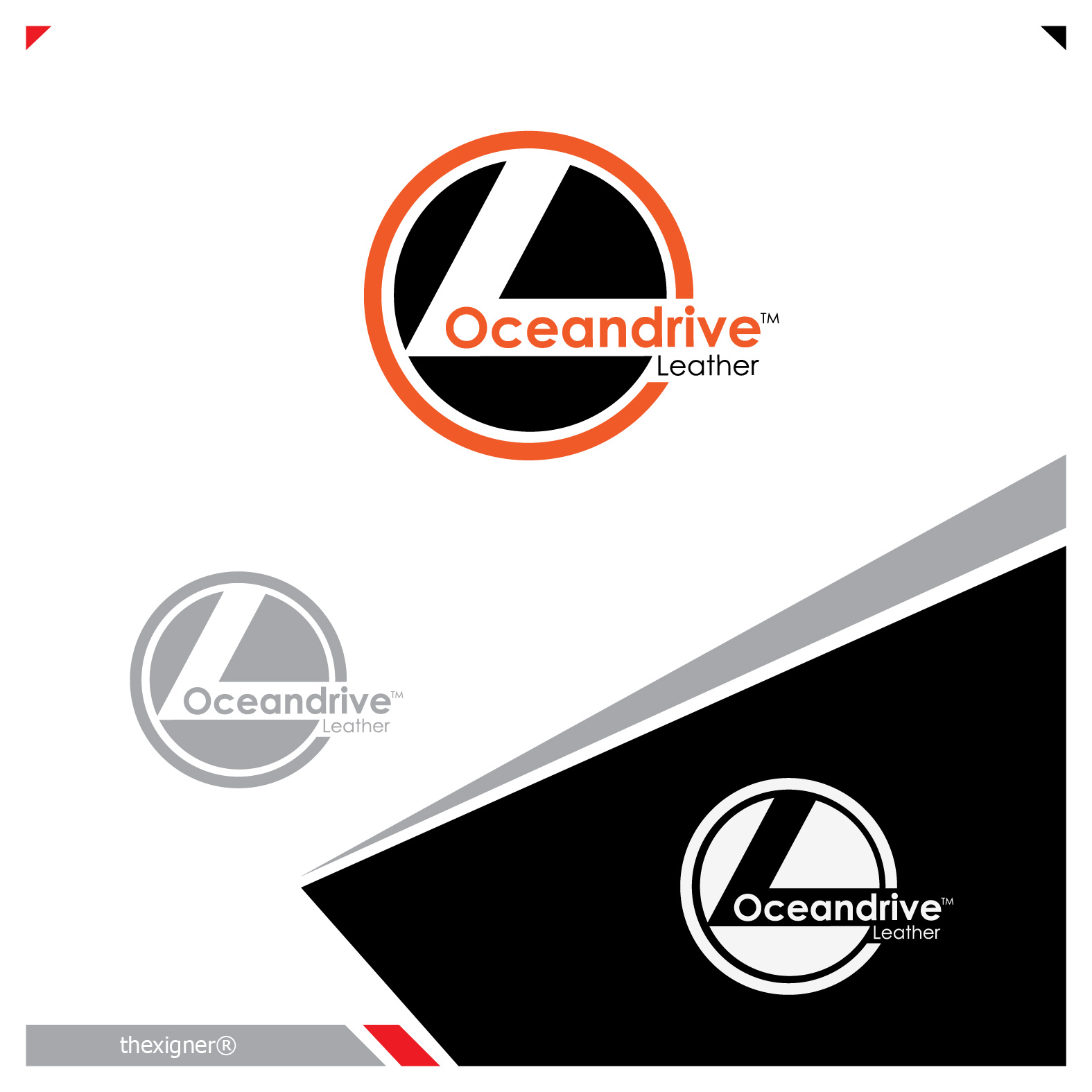 Logo Design by lagalag - Entry No. 29 in the Logo Design Contest Captivating Logo Design for Oceandrive Leather.