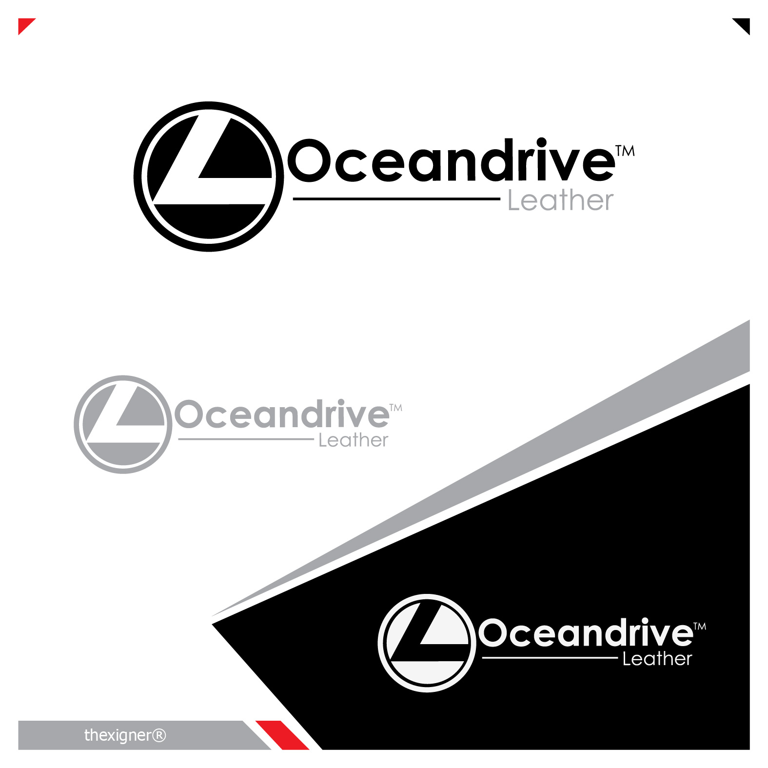 Logo Design by lagalag - Entry No. 30 in the Logo Design Contest Captivating Logo Design for Oceandrive Leather.