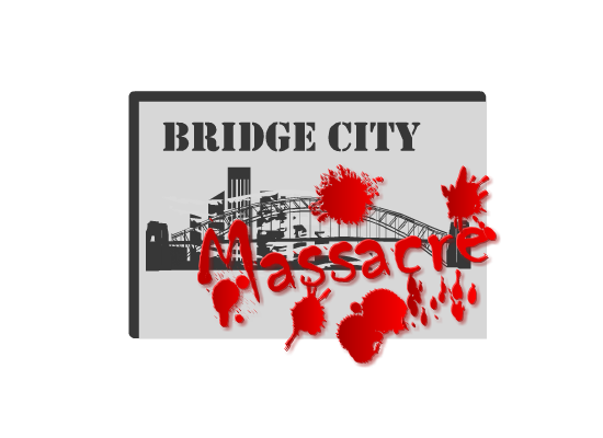 Logo Design by Ismail Adhi Wibowo - Entry No. 1 in the Logo Design Contest New Logo Design for Bridge City Massacre.