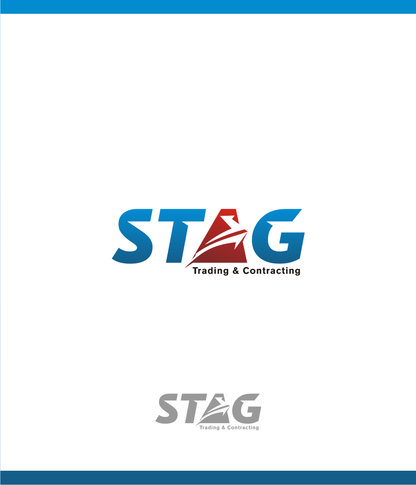 Logo Design by graphicleaf - Entry No. 19 in the Logo Design Contest Captivating Logo Design for STAG Trading & Contracting.
