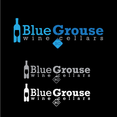 Logo Design by lagalag - Entry No. 77 in the Logo Design Contest Creative Logo Design for Blue Grouse Wine Cellars.