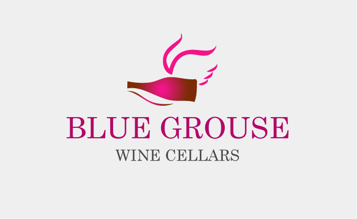 Logo Design by Private User - Entry No. 79 in the Logo Design Contest Creative Logo Design for Blue Grouse Wine Cellars.
