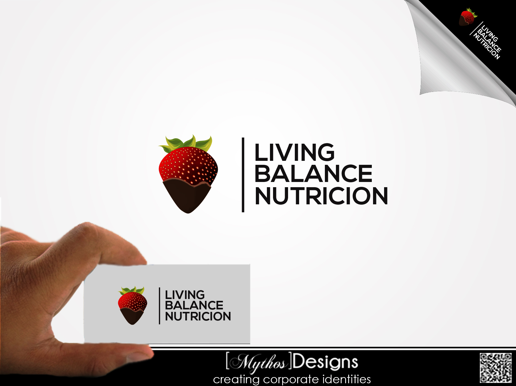 Logo Design by Mythos Designs - Entry No. 53 in the Logo Design Contest Unique Logo Design Wanted for Living Balance Nutrition.