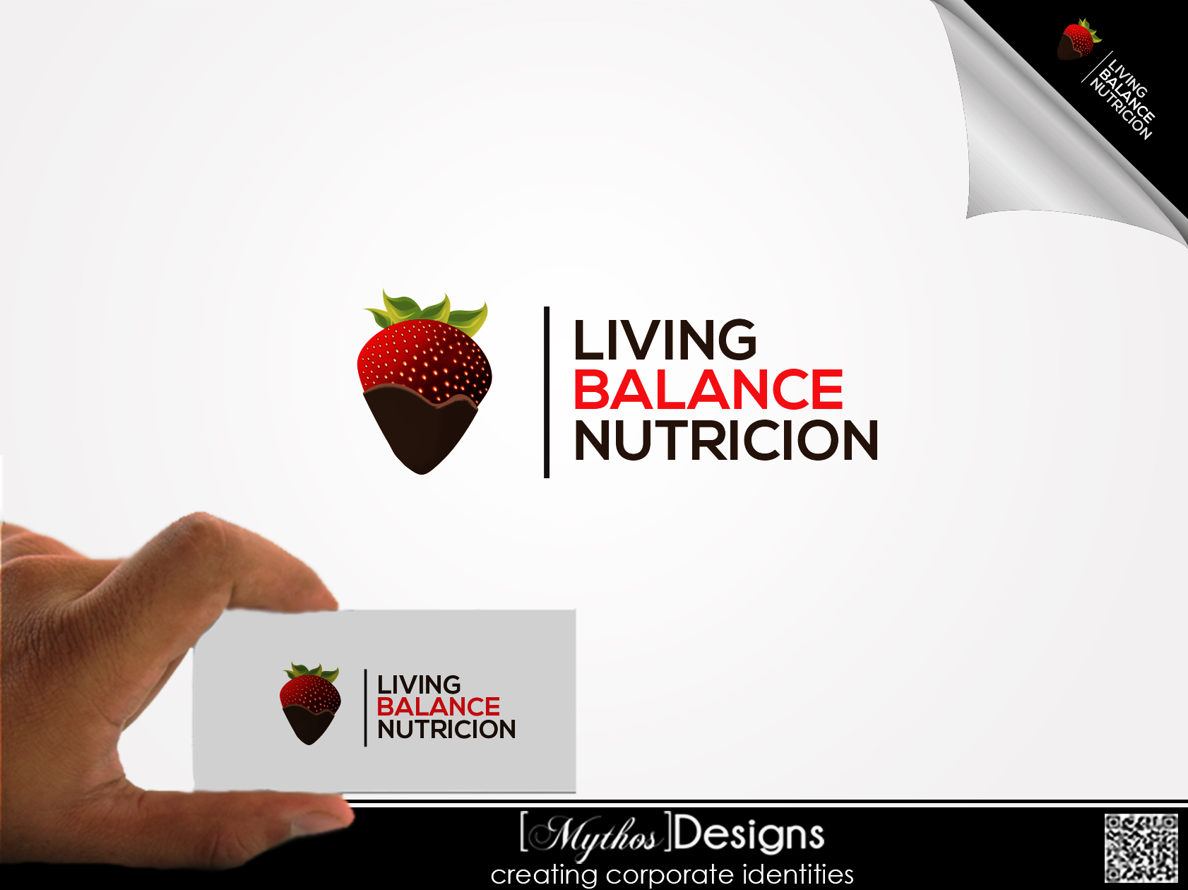Logo Design by Mythos Designs - Entry No. 54 in the Logo Design Contest Unique Logo Design Wanted for Living Balance Nutrition.